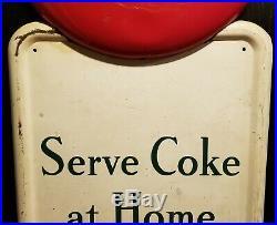 1947 metal Coca Cola pilaster sign six pack 16 button original vintage gas oil