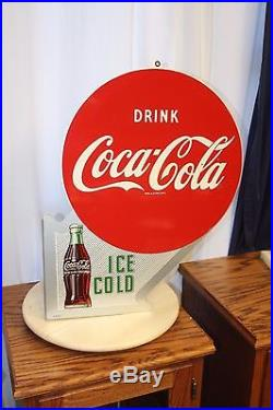 1953 Original Coca-Cola Vintage Coke Advertising Metal Flange Sign