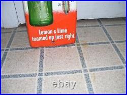 1960's Vintage Teem Lemon Lime Drink Thermometer Original Metal Sign