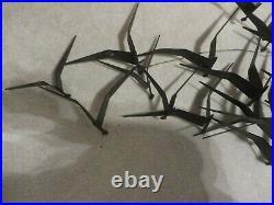 1968 Jere Signed Vtg Mid Century Modern Metal Birds in Flight Seagull Sculpture
