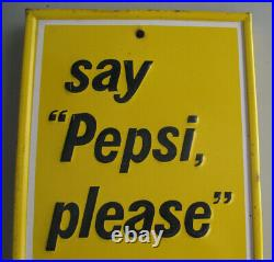 1970 Vintage Drink Pepsi Soda Metal Advertising Thermometer Sign Stout PM-1030