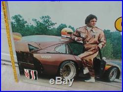 1982 IMSA Auto Racing 3x5-ft vtg old Camel GT Metal sign Porsche 911 Atlanta Trk