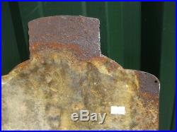 37838 Old Antique Vintage Enamel Sign Pelaw Metal Polish Tin Can