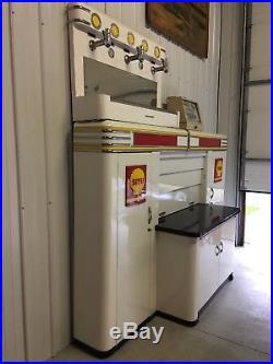 Alemite Equipment Shell Metal Vintage Mechanics and Oil Gas Dispenser Cabinets