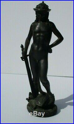 Antique Vintage Bronze Metal Sculpture Nude Classical Portrait Icon Iconic 10