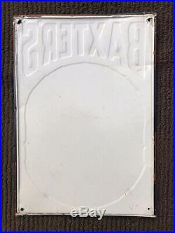 Antique Vintage Original BAXTER'S DRUM 5 Cent Cigar Advertising Metal SignOLD