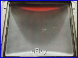 Antique Vintage Rare Curved Ruby Glass EXIT Sign in Metal Frame