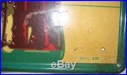 Antique Vintage USA Coca Cola Soda Metal Fish Tail Art Advertising Store Sign Us