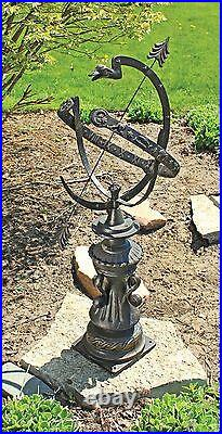Antiqued Authentic Hyde Park Armillary Sphere Zodiac Signs 40 Garden Statue
