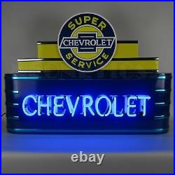 Art Deco Marquee Chevrolet Light Vintage Look Sign Neon Sign Metal Can 39x28