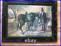 BLACK AMERICANA Vintage Green River Inn Whiskey Metal Sign 19 x 25