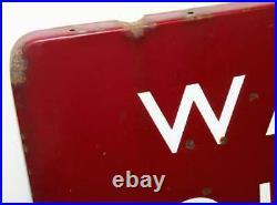 BR (M) Way Out British railway enamel sign railwayana rail vintage antique metal