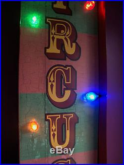 CIRCUS arrow illuminated carnival fair sign light vintage wedding gift led V183