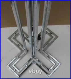 C Curtis JERE Vintage Chrome Floor Lamp Signed Twice Metal Sculpture Lamp
