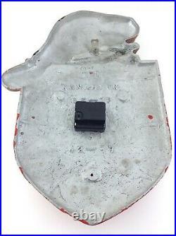 Canadian Pacific Railway Shield Clock Beaver Plaque Sign Metal Vintage CPR S903