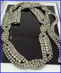 Christian Dior Belt Rhinestone Couture Vintage 70'S Signed Estate Rare Designer