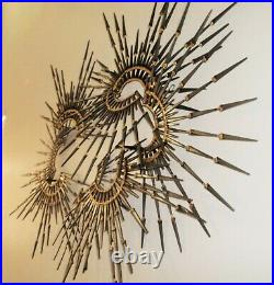 Corey Ellis Art MCM Modern Abstract Brutalist Metal Wall Sculpture Gothic VTG