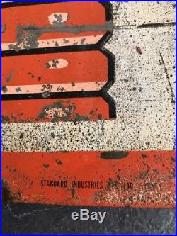 FANTA Genuine Vintage Metal Australian Tin Sign Milk Bar STANDARD INDUSTRIES