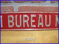FARM BUREAU MEMBER Vintage Embossed Metal Sign Farm Feed Seed Store Advertising