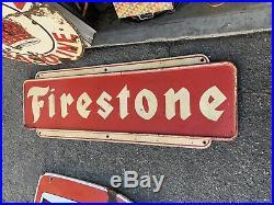 Firestone Metal Sign Vintage Original