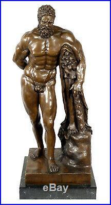 Greek Mythology Bronze Sculpture FARNESE HERCULES signed Glycon Antique