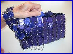 Iconic Signed Vintage Paco Rabanne Purple (!) Chainmail Purse. Stellar Bag (!)
