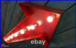 Large 6'ft Retro American Arrow Sign Garage Neon Sign Light up sign Light box