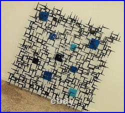 Large Signed Corey Ellis Abstract Modern MCM Wall Sculpture Metal Vintage Style