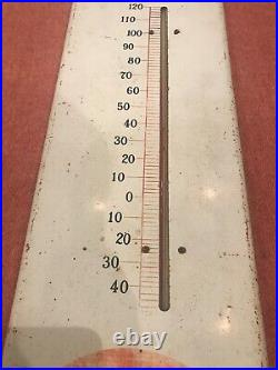 Large Vintage 1950's Dr Pepper Soda Pop Gas Station Metal Thermometer Sign