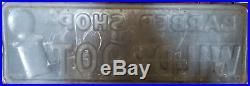 Large Vintage 1957 Barber Shop Pole Wildroot Hair Tonic 40 Embossed Metal Sign