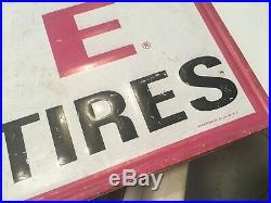 Large Vintage 1962 Gillette Batteries Gas Station 60 Embossed Metal Sign