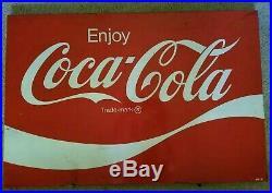 Large Vintage Coca Cola Metal Sign 36 W X 24 H AM121