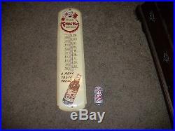 Large Vintage Frostie Root Beer Soda Pop Bottle 36 Metal Thermometer Sign Works
