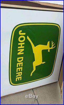 Large Vintage Metal John Deere Dealer Sign
