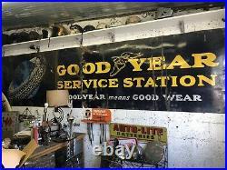 Large Vintage Porcelain Goodyear Sign Metal Original
