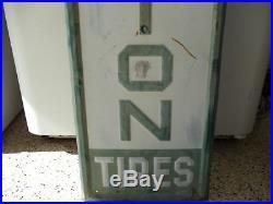 Large Vintage Remington Tires Gas Station 60 Embossed Metal Sign