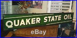 Large vintage QUAKER STATE OIL METAL SIGN