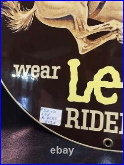 Lee Riders Vintage Metal Sign This Sign Is Authentic Please Read Below