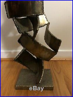 MID Century Modern Vintage Fantoni Signed Brutalist Metal Italian Sculpture