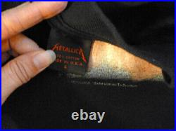 Metallica Vintage T Shirt 1992 Tour Concert Dates L Sandman Autographed Signed