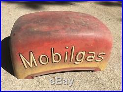 Mobil Gas Vintage Original Gas Pump Script Top Wayne Pump 80 Metal Body Top