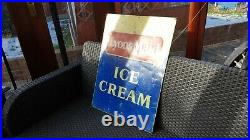 Old USED Original Vintage 1960's LYONS MAID Ice Cream Metal Advertising Sign