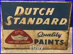 Old Vintage 1960's Dutch Standard Paints 2-sided metal Sign