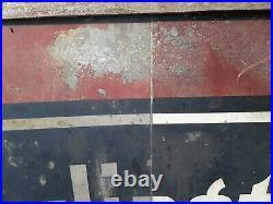 Old vintage Burlington Route railroad metal train sign