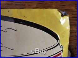 Original 1950's TOPS MILD SCOTCH SNUFF Embossed Metal Vintage TOBACCO SIGN