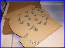 Original 1950s nos Vintage License plate Glass toppers auto Rat Hot rod Harley