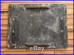 Original Antique Sign POLICE STOP ORDER Metal Reflective 22 x 29 Vintage 40's