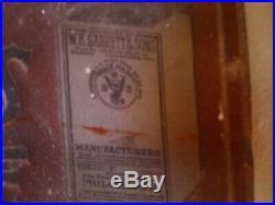 Original Garretts tobacco snuff Sign Vintage Metal Antique Sign super rare