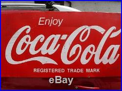 Original Large Vintage Coca Cola Metal Shop Sign