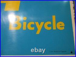 Original Vintage BSA Bicycle Sign 28 metalic advertising shop NOS 1950s